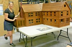 Vintage Northern Pre-civil War Doll House, Hand-made To 1/12 Scale 6,000 Sq. Ft+