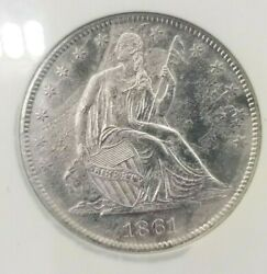 1861 O Seated Liberty Half Dollar Ss Republic Ngc Shipwreck - Confederate Issue