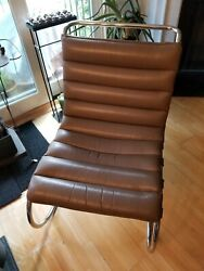 2 Left Mies Van Der Rohe Leather Lounge Chairs
