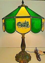 John Deere Tractor Lamp - Models D A B Gp Etc.- Stained Glass From 1980and039s