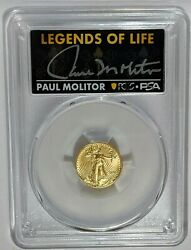 2021 5 American Gold Eagle Type 2 Pcgs Ms70 Legends Of Life = Signature Label =