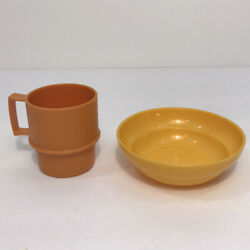 Vintage Tupperware Toy 2 Mini Serve It Set Replacement Pieces Plastic Toy Dishes