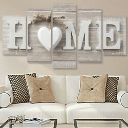 5Pcs Unframed Modern Wall Art Painting Print Set Canva Picture Home Room Decor