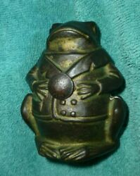 Professor Pug Frog Cast Iron Still Bank. Manufactured By A.c. Williams 1905