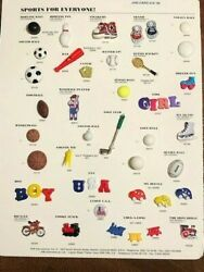 Jhband039s - Sports For Everyone - 1999 Salesman Sample Button Card