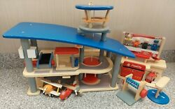 Plan City Wooden Toy Lot Airport. Fire Station, Car Wash, New Figures, Plan Toys