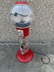 Magic Spiral Gumball Machine Red Full Size 5and039 Tall Parts Only Or Display