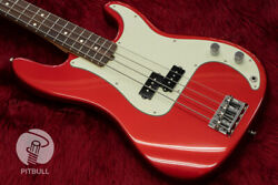 Fender Usa American Professional Precision Bass Rose Candy Apple Red Us19086826