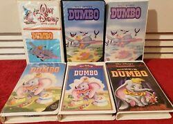 Rare Dumbo Original Banned Series Of 6 Vhs Tapes