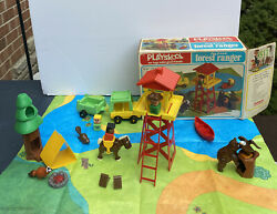 Playskool Vintage Play Friends Forest Ranger Outdoor 1974 Sears 44275 Complete
