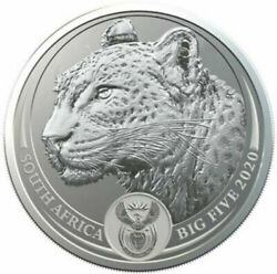 2020 South Africa 5 Rand Silver - The Big Five Leopard - South African Mint