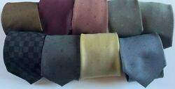 Louis Vuitton, Ties, 9 As A Lot, Like New To Excellent Condition 100 Silk