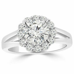 1.20 Carat Round Real Diamond Engagement Ring 950 Platinum Size For Sale 8 9 10