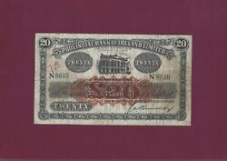 Provincial Bank Of Ireland Limited 20 Pounds 1944 P-234 Vf++ Extremely Rare