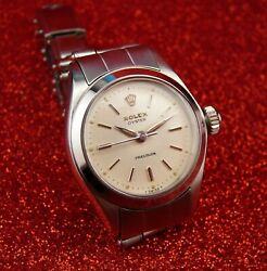 Pristine Rolex Oyster Precision Ladys Ref 6410, Mint Dial From 1966
