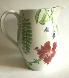 Spode For Williams Sonoma English Floral 7 High Pitcher, 2006