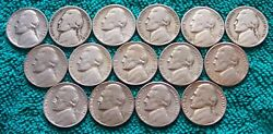 1938-ds 1939-ds 1950-d 1951-s And More 15 Key Date Jefferson Nickels No Duplicates