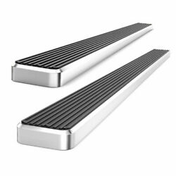 5 Silver Eboard Running Boards For 2000-2006 Toyota Tundra Access Cab Pickup