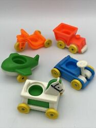 Vintage Fisher-price Little People 5- Kidand039s Ride On Toys Tricycle Horse Train