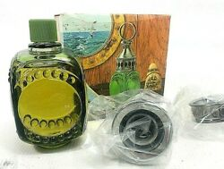 Vintage 70s Avon Whale Oil Lantern Oland After Shave Decanter Nib Box Full New