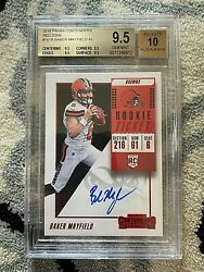 2018 Contenders 101b Baker Mayfield Red Zone Rc Auto Bgs 9.5 / 10 True Gem