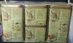 Vintage Tin Canisters Recipe Pattern Sealed Unused J Chein