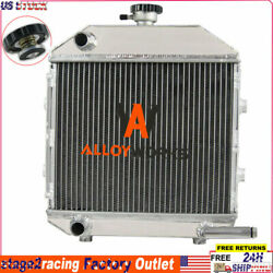 3 Row Aluminum Radiator + Cap For Ford Tractor 1300 Sba310100211,1942smp130486