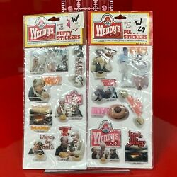 Vintage Lot Of Wendy's Restaurant Puffy Stickers Clara Peller Where's The Beef
