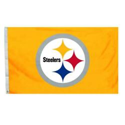 Pittsburgh Steelers 4' X 6' Flag [new] Nfl Banner Sign Stream Pole Yard Outdoor