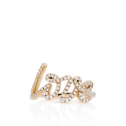 And Co. 18kt Rose Gold Diamond Love Ring - Size 6