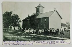 Shinglehouse Pa School House Early View 1907 To Port Allegheny Postcard N9