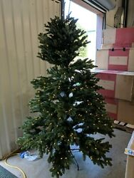 Open Box Balsam Hill Fraser Fir 6.5' Tree With Candlelight Led Lights Christmas