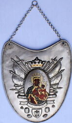 Poland, Large Plaque With The Image Of Our Lady Of Częstochowa. Hand-made