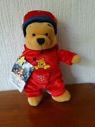 Baby's First Christmas - Pooh Plush - From The Disney Store Uk - 2001.