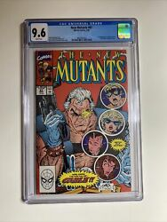 New Mutants 87 Cgc 9.6 Nm+ 1st Appearance Of Cable New Deadpool Movie White