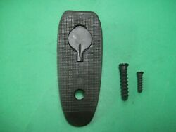 Springfield 1903a3 Butt Plate And Screws-unmarked- Dull Blue Narrow Checkering-nos