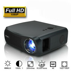 Caiwei A12 Native 1080p Led Projector 4k Video Home Cinema Zoom 100001 Hdmi Us