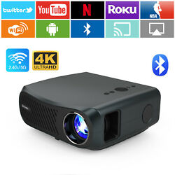 8500lms Native 1080p Android Projector 4k Video Led Home Cinema Zoom Blue-tooth