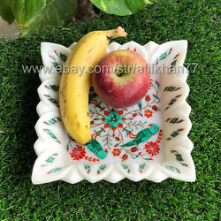 Lotus Leaf Decorative Bowl For Fruit Jewellery Marble Inlay Tray Coffee Table