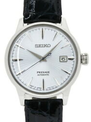 Seiko Presage Sary075 4r35-01t0 Analog Stainless Steel Leather Work From Japan