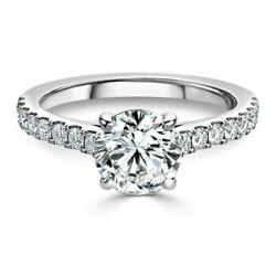 Real Diamond Wedding Rings For Women Round Cut 0.98 Ct 950 Platinum Size 5 6 7 8