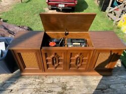 Mid Century Stereo Cabinet Interlude 5000 Garrard 6-200 C Tested And Working