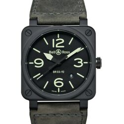 Bell And Ross Instruments Br0392-bl3-ce/sca Black Dial Men's Watch Genuine