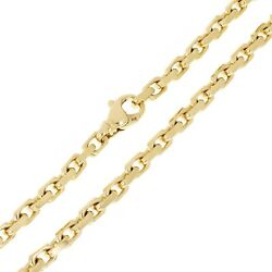 10k Yellow Gold Solid Handmade Fashion Link Chain Necklace 22 4.8mm 51.9 Grams
