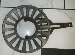 1961 Us Military M-1941 Cast Iron Tent Stove Or Open Fire Round And Draw Grate