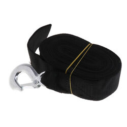 1 Piece 7m Boat Winch Trailer Replacement Webbing Strap With Heavy Duty Hook