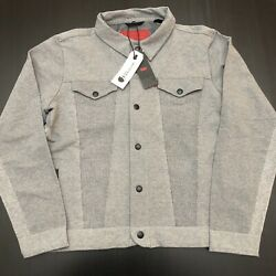Leviand039s Engineered Jeans Limited Edition Menandrsquos Knit Trucker Jacket Size Large