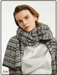 Rrp Andeuro289🌟 And039s Max Mara Knitted Cashmere-wool-mohair Blend Scarf Mod.and039and039agileand039and039
