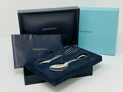 And Co. Peretti Silver 925 Baby Padova Spoon And Fork Set Italy