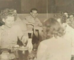Wwii Photo Airmen Giand039s And Woman Dining At Officers Club Australia Military Bandw